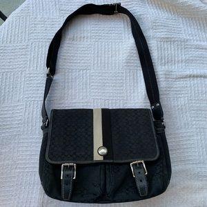 COACH black voyager crossbody messenger bag